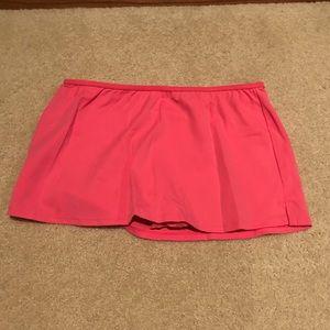 Lands' End girls pink swim skirt